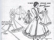 "11""ANTIQUE CHINA HEAD/PARIAN DOLL CLOTH BODY PRINCESS SEAM COAT-DRESS PATTERN"