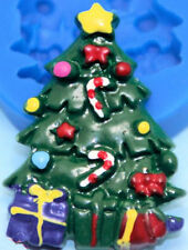Christmas Tree Decorated Silicone Mold for Fondant, Gum Paste, Chocolate, Crafts