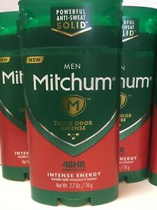 LOT (3) MITCHUM INTENSE ENERGY INVISIBLE SOLID ANTIPERSPIRANT DEODORANT 2.7 OZ