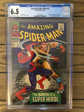 Amazing Spider-Man #42 CGC 6.5 1966, OW/W Pages MJ Face Revealed, 2nd Rhino