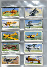 cigarette cards aircraft of the royal air force 1938 full set