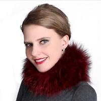 2018Winter women fur headband real fur scarf warm circular ring scarves cowl
