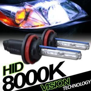 8000K Hid Xenon H11 Low Beam Headlights Headlamps Bulbs Pair Conversion Kit Ve5