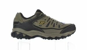 Skechers Mens Afterburn Pebble/Black/Pebble Fashion Sneaker Size 14 (4E)