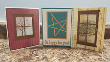New listing 3 Handmade Stampin' Up Greeting Cards