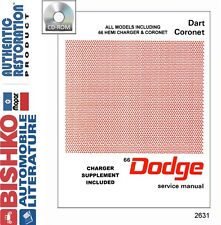 1966 Dodge Dart Coronet Charger Shop Service Repair Manual CD