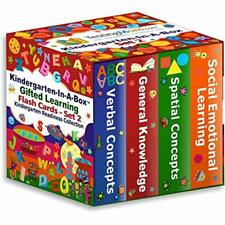 Flash Cards TestingMom. Gifted Learning Bundle - Kindergarten-in-A-Box Set 2 2)