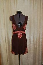 Free People Lyocel/Spandex Brown Mini Dress Size SP
