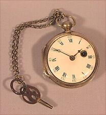 Alte Spindel Taschenuhr Silber 18 Jahrhundert  Barthelet Besancon France Montre
