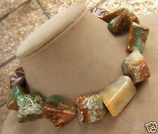 Gems Cream Yellow Green Brown Awesome Chrysocolla Mint Chocolate Modern Necklace
