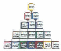 DYLON FABRIC CLOTHES PERMANENT PAINT DYE 25ML MANY COLOURS INC METALLIC & OPAQUE