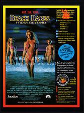 BEACH BABES FROM BEYOND__Original 1993 Trade AD promo__LINNEA QUIGLEY__BURT WARD