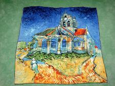 carré écharpe en soie femmes église monastère 100% neuf