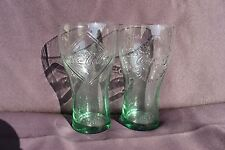 2 X COCA COLA GLASSES - 1899 & 1900 - McDonald's 125 YEARS LIMITED EDITION GLASS