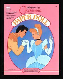 Walt Disney Cinderella Paper Dolls 1989 Golden Books 1545 New Uncut! Rare!