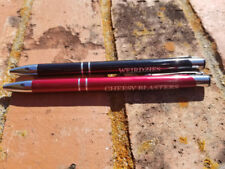 2 Personalized Gloss Metal Pens, Silver Trim Ballpoint Pen, Engrave Pen