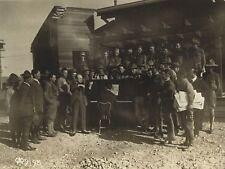 Mischa ELMAN (Violinist): Original Photograph Entertaining WWI Troops