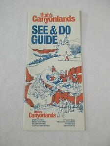 Utah Canyons Canyonlands Arches Glen Travel Map Brochure Guide~BR2