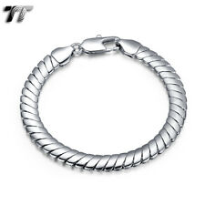 TT 8mm 18K White Gold Filled Chain Bracelet (CBF173S) NEW