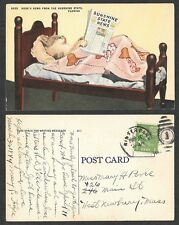 1944 Florida Postcard - Anthropomorphic Cat, Newspaper, Posted in Winter Park
