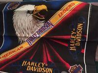 Vtg Harley-Davidson Bandana American Legend Bald Eagle Biker Gear Head Scarf Rag