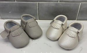 Sweet N Swag 2 Pairs Of Baby Moccasins Size 0 Newborn *NEW*