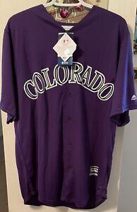 Nolan Arenado Autographed Replica Jersey Colorado Rockies MLB Large Fanatics