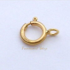 14K Gold Filled 6mm Spring Ring 6pcs Clasps Findings New  ITALY