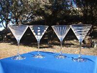 MIKASA Cheers MARTINI Glass 10-Ounce SET of 4 BARWARE