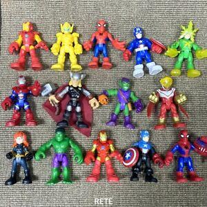 Random 3X Playskool Marvel Super Heroes Adventures Squad Spider Man Movie Figure