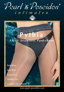 Pythia - Seamless Shiny Pantyhose Low Rise Nylons with Breathable Waistband