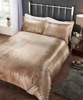 Rapport Crushed Velvet Tiffany Sequin Duvet Cover Bedding Set Gold~ FREE P&P