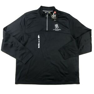 NEW Under Armour Mens 3XL Wounded Warrior Project 1/4 Zip Pullover Sweater Black