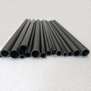 3K Carbon Fiber Tube OD 30mm 32mm 34mm 35mm 36mm 38mm 40mm 42 45mm 50mm x L500mm