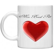 Funny Mug, Funny Gifts Mrs Brad Pitt  Dishwasher  Microwave Safe 11oz Mug