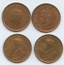 India British 1936-2, 1939 & 1940 1/4 Annas (#1559) All uncirculated coins.