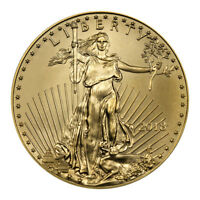 2018 1/10 oz Gold American Eagle $5 GEM BU Coin SKU50852
