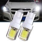 2x T10 W5W COB LED Auto Car Super Bright Silica License Plate White Light Bulb
