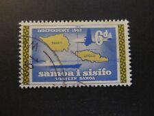 1962 - SOMOA - MAP OF WESTERN SAMOA - SCOTT 227 A43 6P