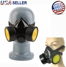 Anti-Dust Paint Mask Respirator Half Spray Gas Safety Chemical Carbon High Grade