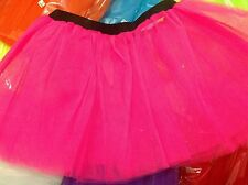 Hot Pink Girl Ladies Tutu Skirt Party Ballet Fancy Dress Fairy Dress Princess
