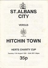 St Albans City v Hitchin Town 1992/3 Herts Charity Cup