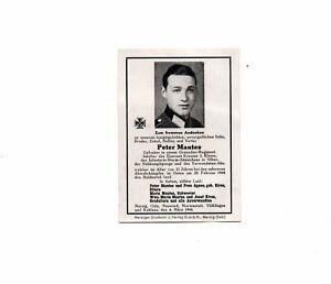 Sterbebild Sterbekarte deathcard Gefr. Nahkampfspange 1944