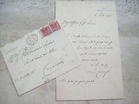 1916 LETTERA DEL GRANDE PITTORE BERGAMASCO LUIGI CAVENAGHI DA CARAVAGGIO
