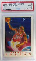 1991 91-92 FLEER PRO-VISIONS Michael Jordan #2, Graded PSA 9 MINT