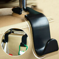 Black Vehicle Car Seat Hook Handbag Hanger Auto Holder Headrest Storage Tools