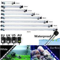 7-23inch IP68 Waterproof Submersible White Bule Aquarium Light Fish Tank Lamp