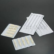 (5RL+5RT) Disposable Sterile Tattoo Needles and Plastic Tubes Tips Mix 100Pcs