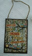 Placa de chapa Cuadro metal What me encanta About My Home is who i SHAVE Shabby