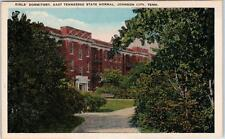 JOHNSON CITY, TN   East Tennessee State Normal GIRLS' DORMITORY  c1920s Postcard